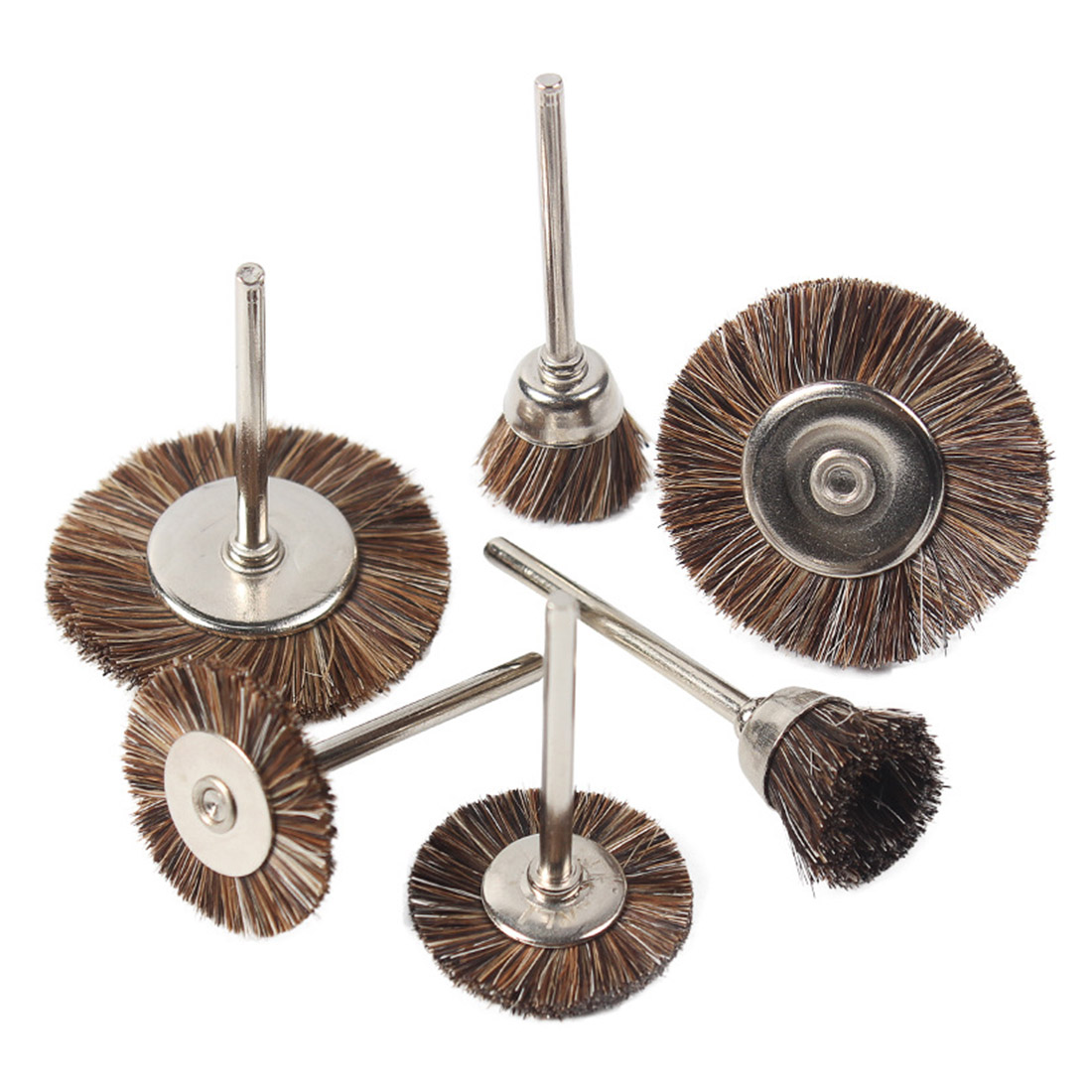 Wire Wheel Brushes Die Grinder Rotary Electric Tool T/ Y Type For Wood/ Relief/ Root Carving 3MM Shank