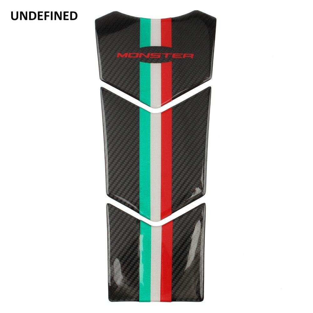 Moto En Fiber De Carbone Look Oil Tank Pad Protecteur Decal Stickers Moto pour Ducati Monster 600 620 696 750 821 900 universel