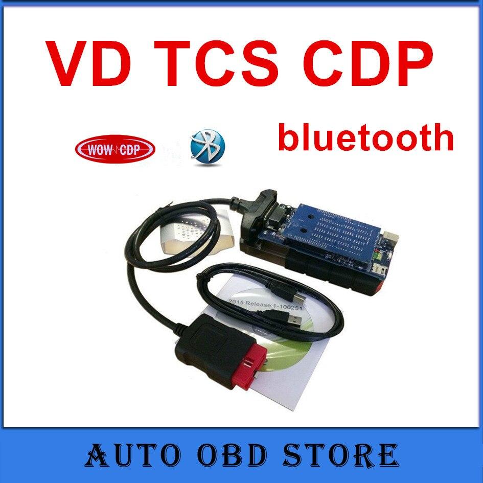 Цена за (5 шт. в упаковке) 2015 R1 программного обеспечения VD TCS CDP с Bluetooth синий печатные платы инструмент диагностики авто