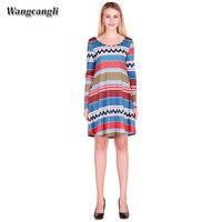 Wangcangli 2017 Autumn And Winter Hot Sale Long Sleeve Dress Europe And America Style With O