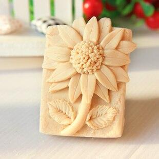 Molde de silicone girassol diy artesanal sabão