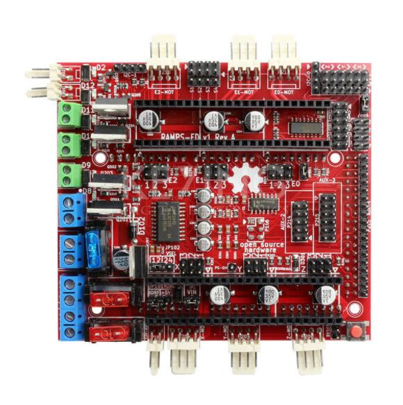 Brand 3D Printer Motherboard Reprap RAMPS-FD Shield Ramps 1.4 Control Board Compatible with Arduino Due Main Control Board ramps 1 4 printer control reprap module for 3d printer deep blue