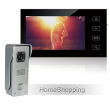 Buy online New Wired 7″ Color Touch Screen Video Door Phone Intercom System + 1 Monitor + 700TVL Waterproof Doorbell Camera FREE SHIPPING