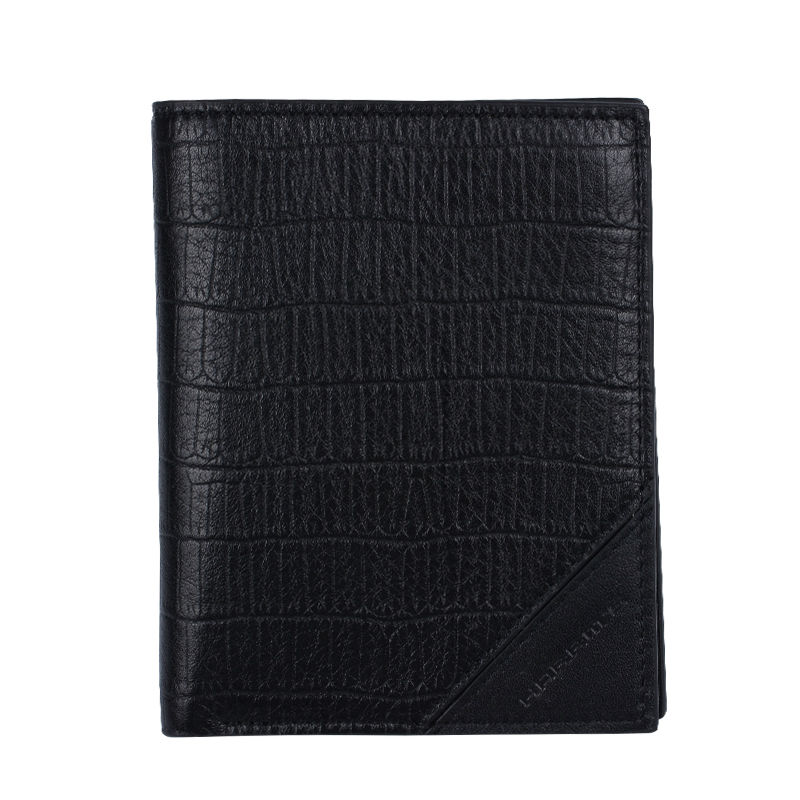 ФОТО Harrms Genuine Leather Men Wallets Designer Wallet Famous Brand Crocodile Black Mens Wallet Fashion Purse portefeuille homme