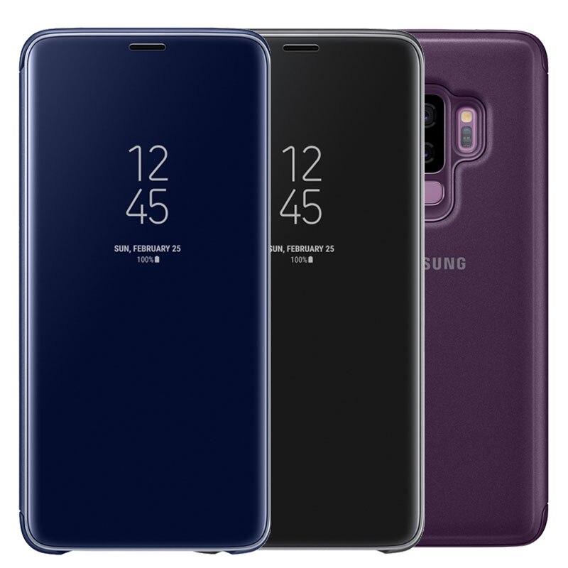 Для SAMSUNG S9 чехол с оригинальный чип Smart View зеркало ясно флип Чехол чехол для SAMSUNG Galaxy S9 плюс Чехол