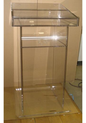 Podio acrílico personalizado de la Iglesia/púlpito moderno Perspex atril podio púlpito plexiglás