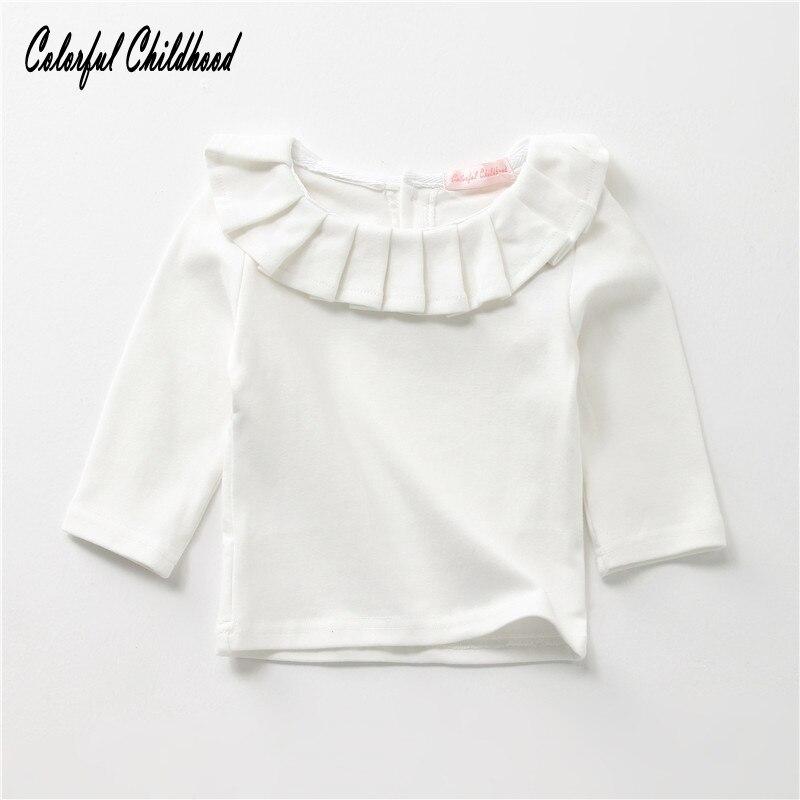 Bébé à manches longues solide enfant haut col Tops T-shirt vêtements chauds