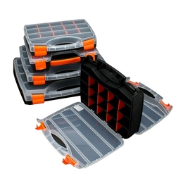 Ящик для инструментов, коробка для хранения деталей, пластиковый отсек с крышкой, аппаратный ящик для инструментов, многофункциональная ко...
