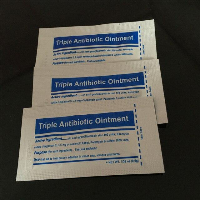Gel de ungüento Triple para el cuidado de heridas, 0,9g por paquete, botiquín de primeros auxilios para quemaduras, accesorios, crema para el cuidado de heridas, antiinfección
