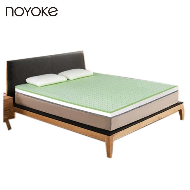 Noyoke натуральный латекс наматрасник 5 см Толщина отрицательные ионы натуральный латекс мягкий матрас татами со съемной крышкой