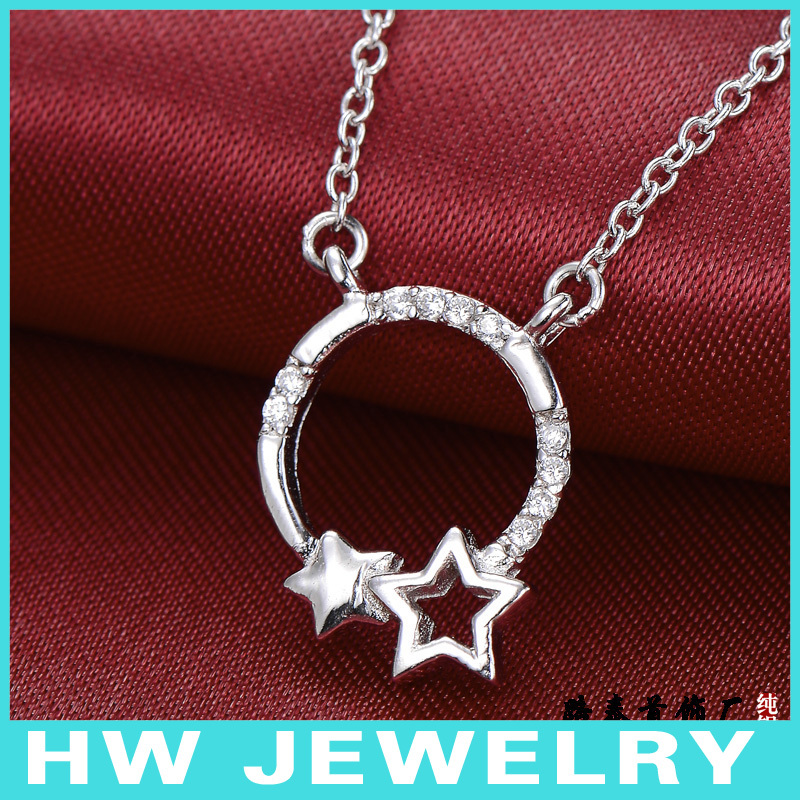 ⑤Бесплатная доставка. Стерлинговое Серебро 925 ожерелье ...