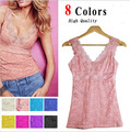 2016 new women knitted Sexy Hollow Out Lace vest tops ladies plus size basic sleeveless tank top shirt