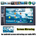 6.6 Inch 2 din steering wheel control Car radio Touch Bluetooth Stereo FM MP5 Player for android screen mirroring