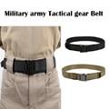 Nueva Militar Army Tactical gear 1.5-pulgadas de acero cabeza de la correa de tiro Airsoft Caza MOLLE 1000D impermeable resistente al desgaste cinturón