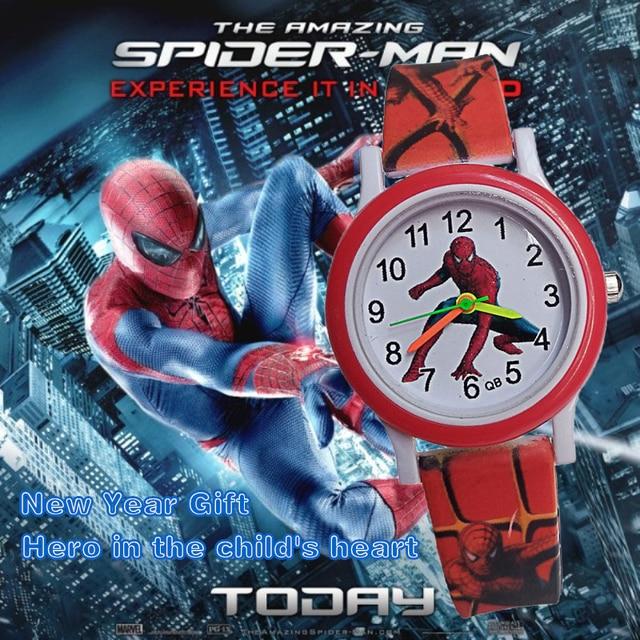 Fashion Children Watches Boys Spiderman Hand Watch Child Clock Gifts Waterproof