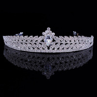 Trendy Crystal Rhinestone Crown Tiara Fashion Elegant Jewelry Bride Party Wedding Hair Accessories