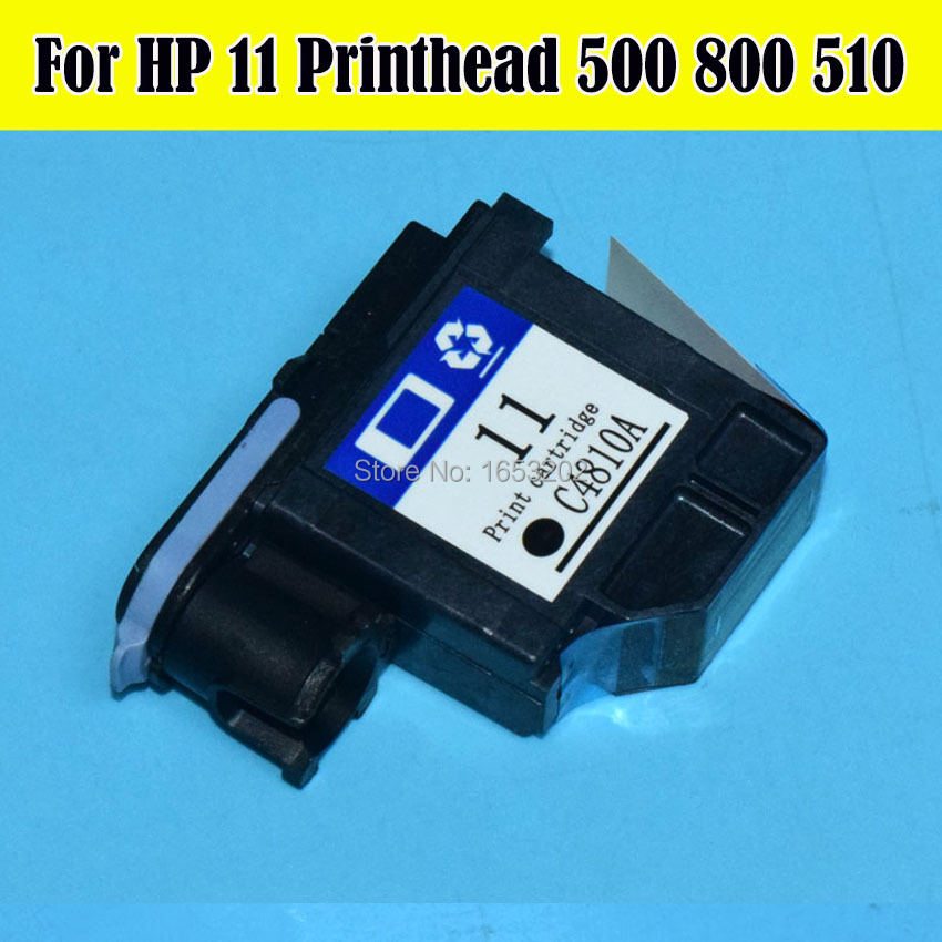 Hot Selling!! For HP 11 HP11 Printhead C4810A Nozzle For HP Designjet 510 800 500 Plotters Printer Head (Black Print head) 1set 4pcs remanufactured 11 print head c4810a c4811a c4812a c4813a for hp11 printhead for hp designjet 500 510 800 printer