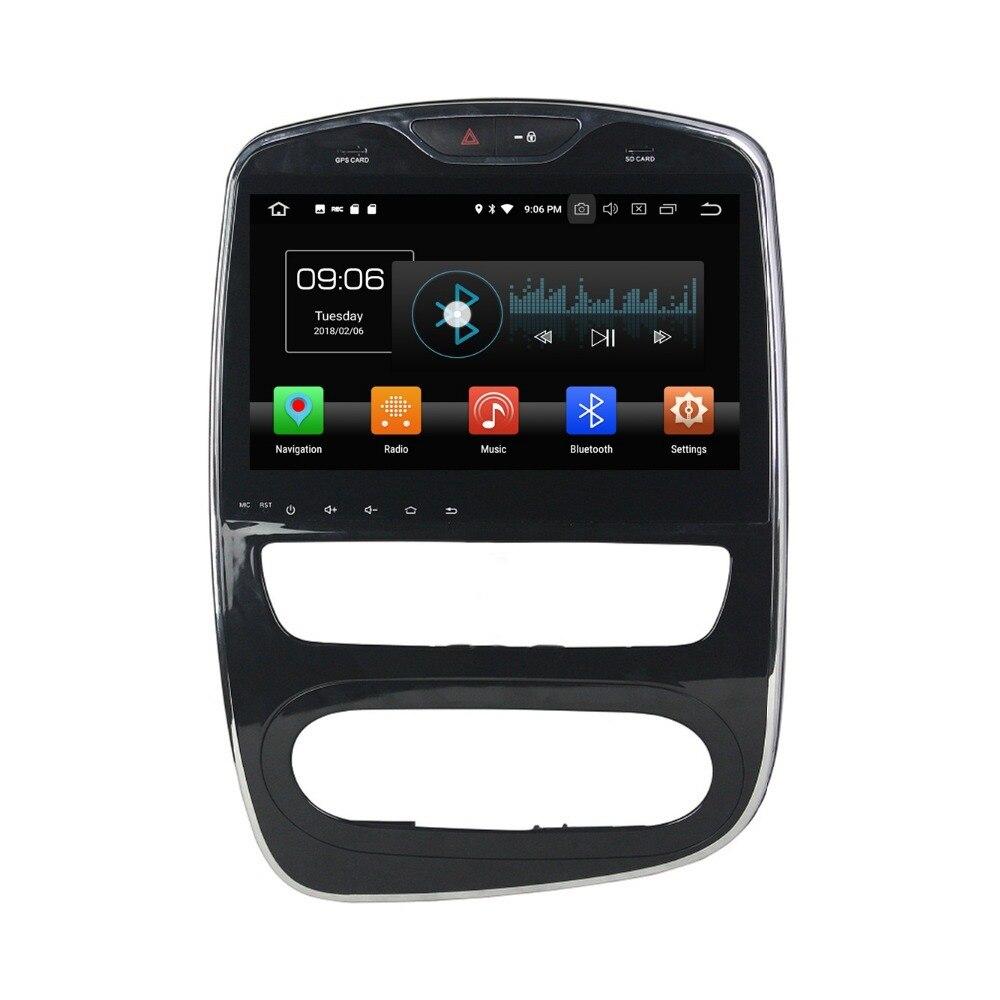 4 Гб + 32 ГБ Octa Cor 10,1 Android 8,0 автомобильный dvd плеер для Renault Clio 2016 2017 2018 автомобильное радио GPS Bluetooth Wi Fi USB Зеркало ссылка