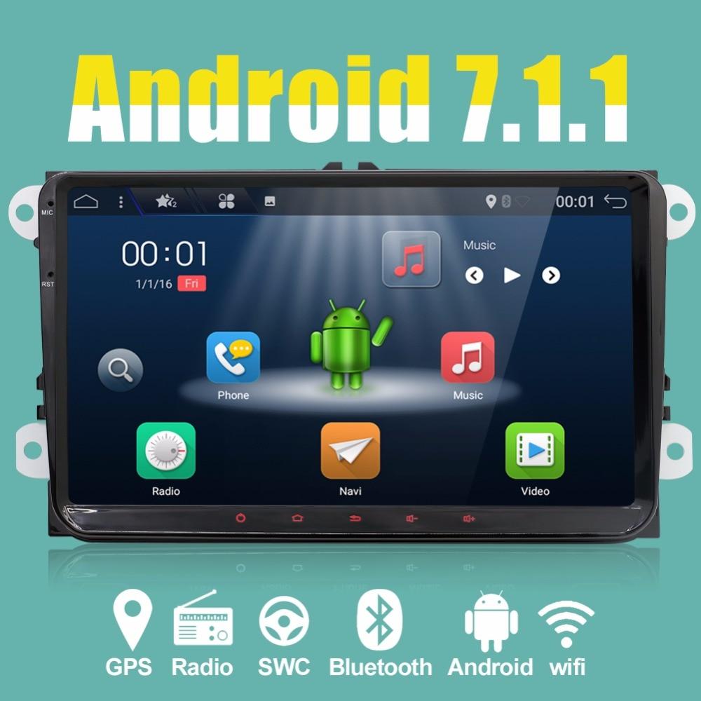 все цены на 9inch 2 Din Android 7.1 VW Car Audio DVD Player GPS For GOLF 6 Polo Bora JETTA B6 PASSAT Tiguan SKODA OCTAVIA 3G OBD онлайн