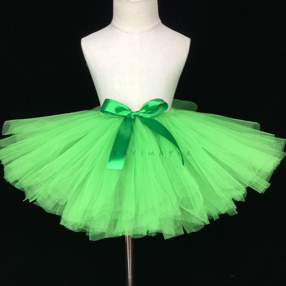 Cute Girls Green Tutu Skirt Baby Fluffy Tulle Skirts ...