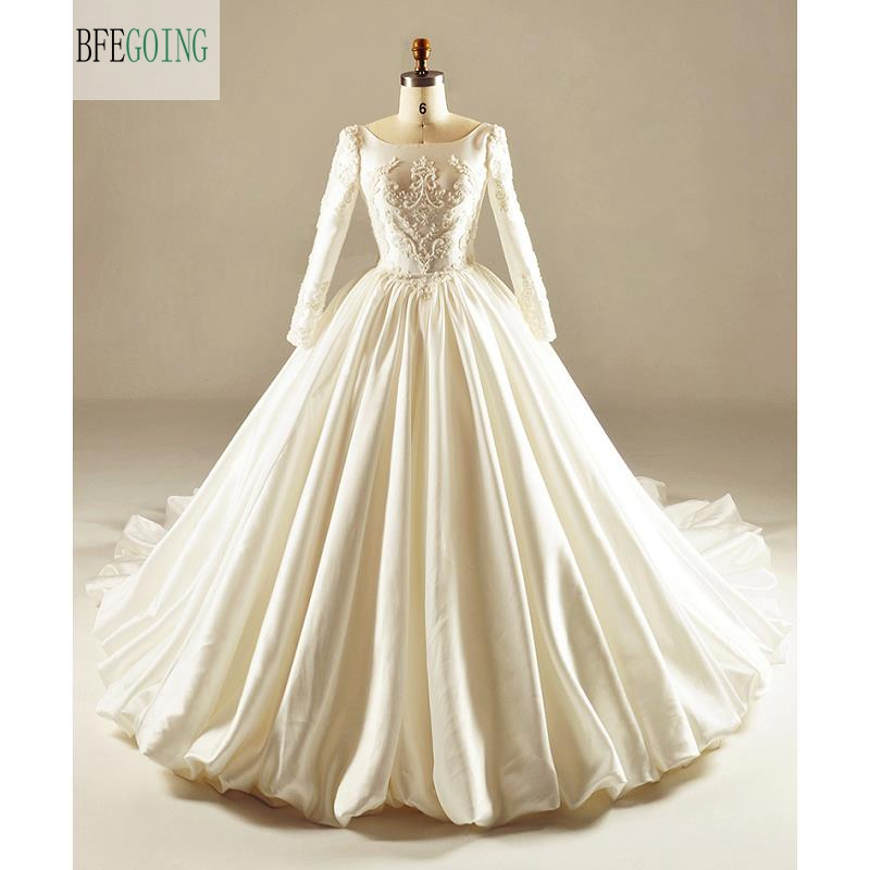 Dressv Ivory Wedding Dress Strapless Long Sleeves Chapel: Ivory Satin Beading Embroidery Floor Length Long Sleeves