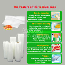 20cm x 30cm 25PCS PE Vacuum Food Saving Storage Bags Sealing Sealer Packaging Film Keeps Fresh up to 6x Longer