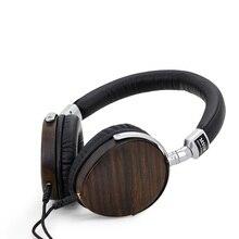 Original MSUR N350 Noise Isolating HiFi Wooden Metal Headphone Headset Earphone With Beryllium Alloy Driver Portein Leather