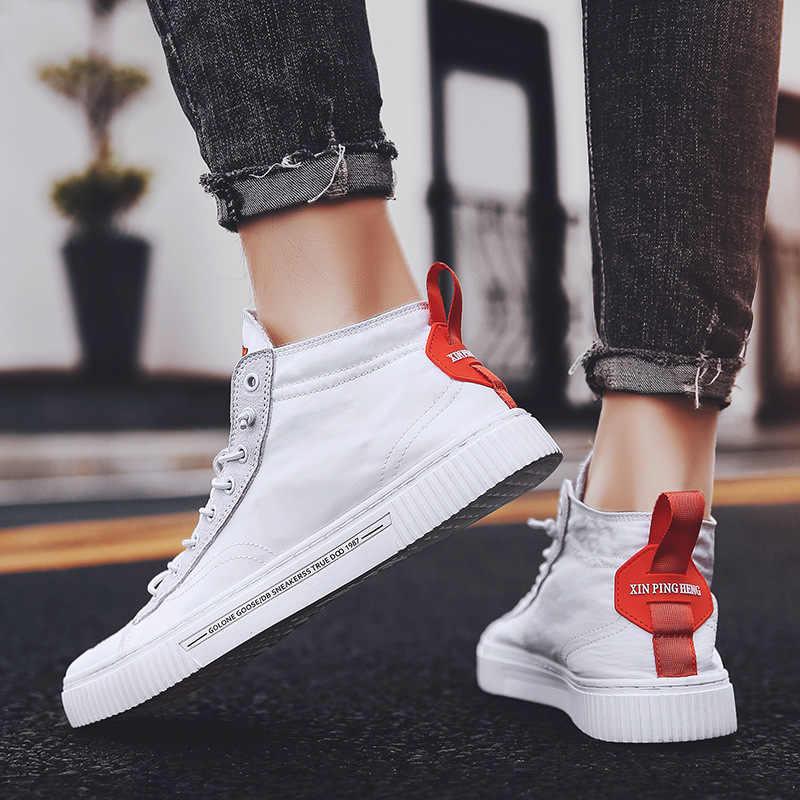 Новинка 2019 года; летняя брендовая мужская обувь в британском стиле; парусиновая обувь; Мужская Новая обувь высокого качества; Мужская-1