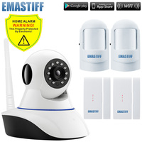 IP Camera Wireless Wifi 720P GSM SMS With 2pcs Door Window Gap And PIR Motion Detector