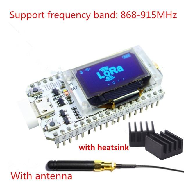 868MHz-915MHz SX1276 ESP32 LoRa 0.96 Inch Blue OLED Display Bluetooth WIFI Lora Kit 32 Module IOT Development Board for Arduino