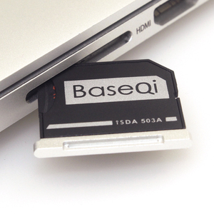 """Image 2 - BaseQi Aluminum Micro SD to SD Memory Card Adapter Stealth Drive Card Reader For MacBook Pro Retina 13""""/15"""" and MacBook Air 13"""""""