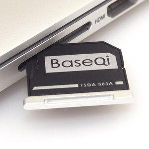 """Image 2 - Baseqi アルミマイクロ sd sd メモリーカードアダプターにステルスドライブカードリーダー macbook pro の網膜 13 """"/15"""" と macbook air の 13"""""""