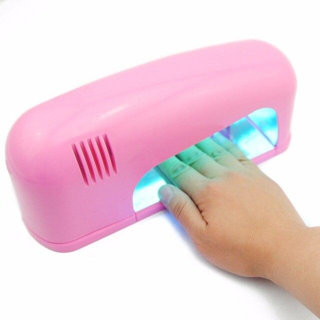 Secador de uñas de Gel UV Lámpara 9 W Rosa Lámpara UV Forma Curvada ...