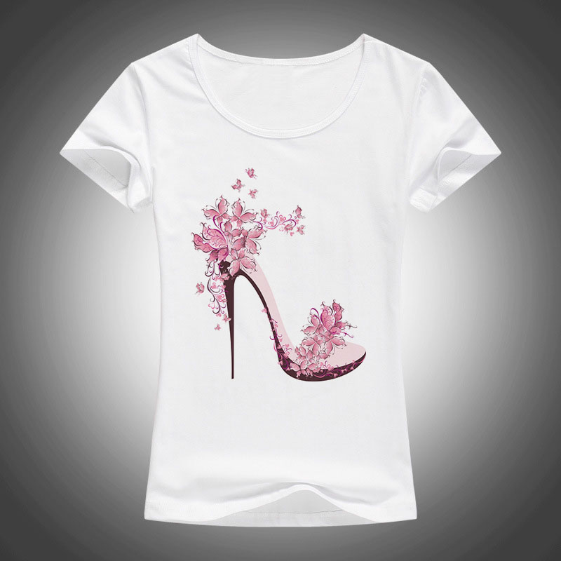 High Heels Printed Short Sleeve T-shirt