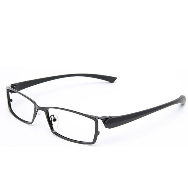 2016 nova chegada negócio de lazer dos homens titanium liga projeto tr90 vidros ópticos quadro marca miopia óculos de prescrição