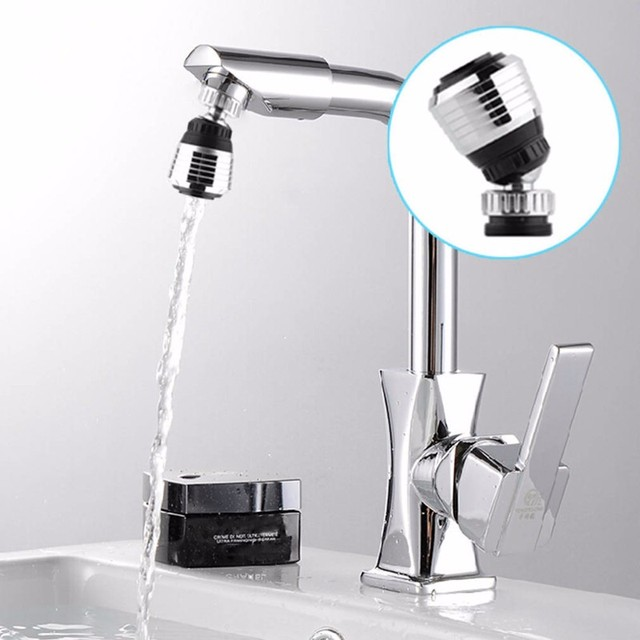 1PC 360 Degree Water Bubbler Swivel Head Saving Tap Faucet Aerator Connector Diffuser Nozzle Filter Mesh Adapter