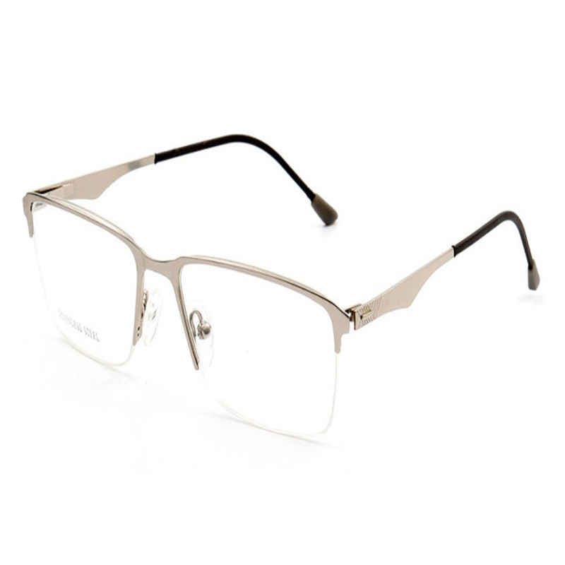Rapture Mongoten Unisex Fashion Half Rim Stainless Steel Aspheric Lens Ultralight Goggle Anti-fatigue Silver Presbyopia Reading Glasses Women's Reading Glasses