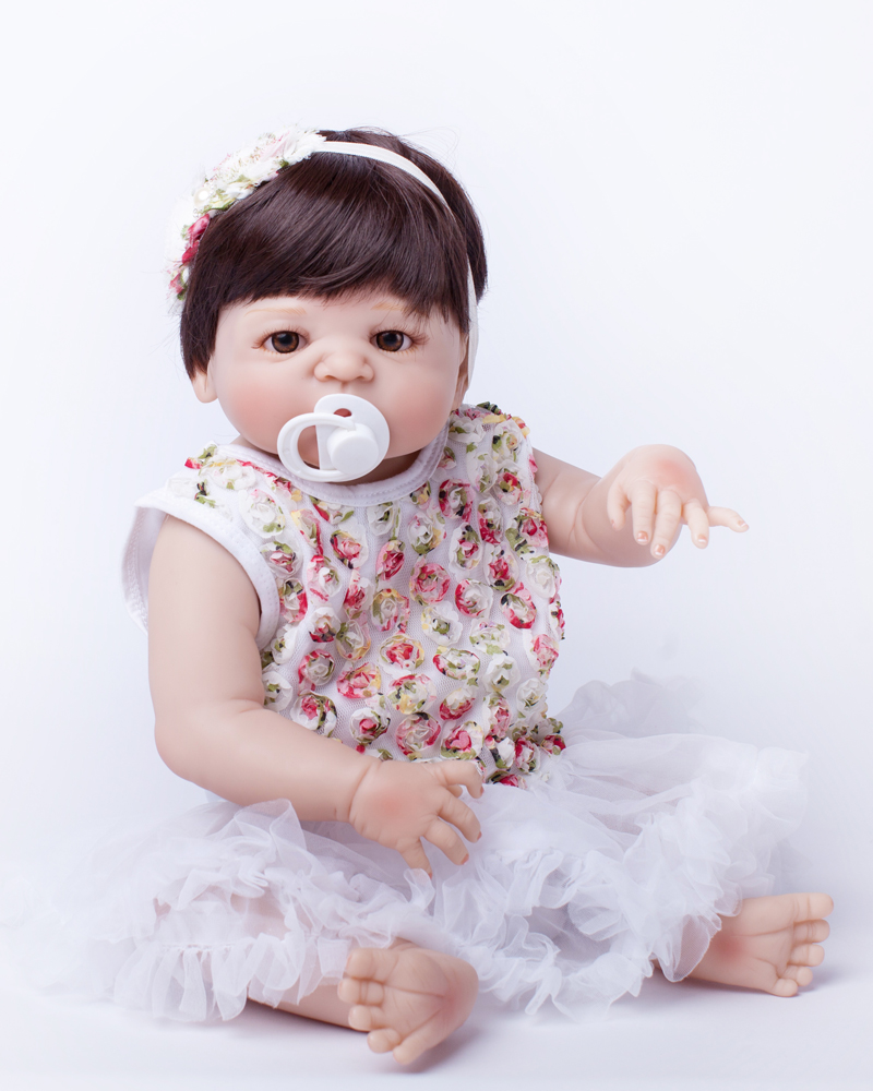 Full Body Silicone Reborn Baby Doll Toy 55cm Baby-Reborn Babies Dolls  Lifelike  Child Birthday Present Christmas Gift Play Hous