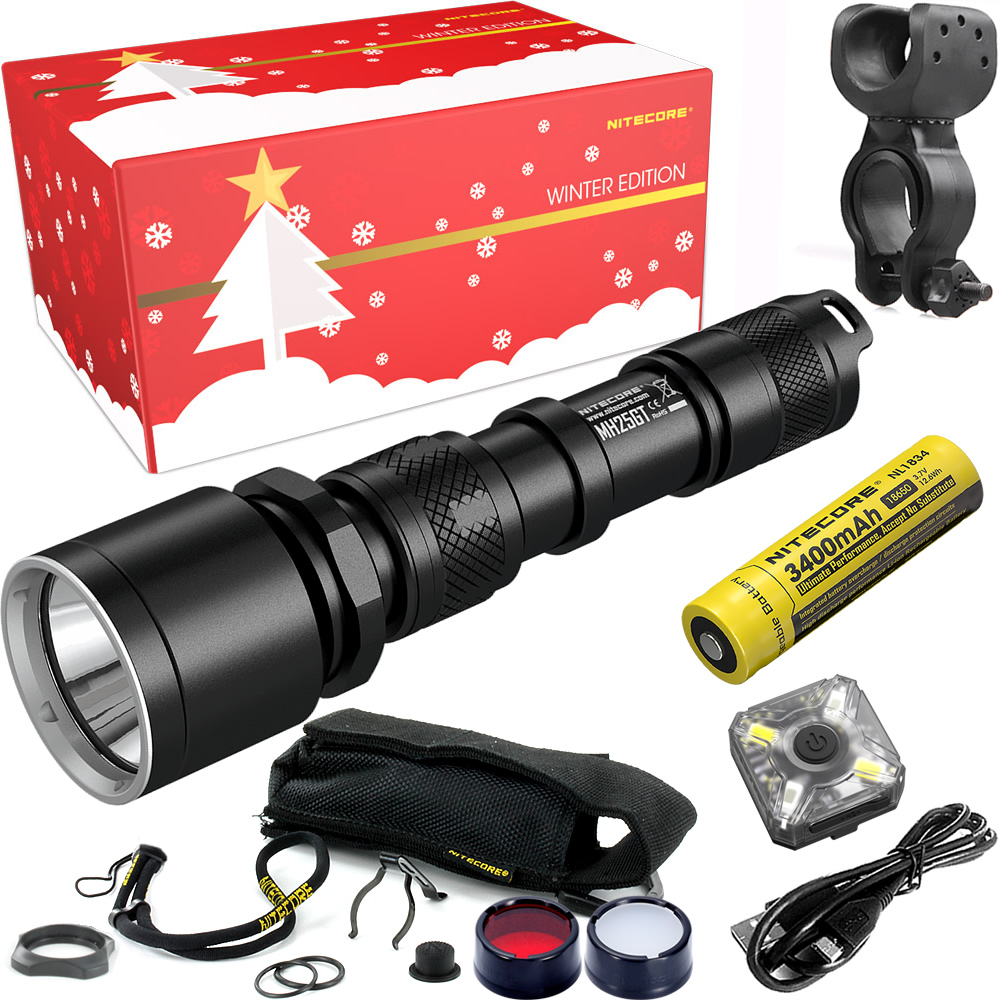 NITECORE MH25GT Riding Holiday Gift Set 1000 Lumen USB Rechargeable Flashlight for Outdoor Bicycle Portable Torchs Free Shipping 2017 nitecore riding holiday gift set mh12 1000lms usb rechargeable flashlight for outdoor bicycle portable torchs free shipping