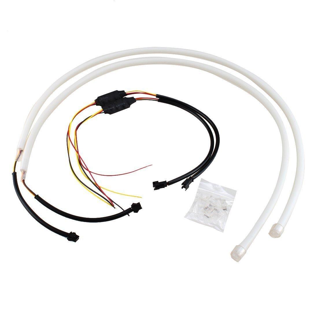 100% Wahr Dual Farbe Weiß-bernstein Auto Switch Led Rohr Lichtband Scheinwerfer Drl Tagfahrlicht Für Audi Stil Rohr (2x30 Cm) Komplette Artikelauswahl