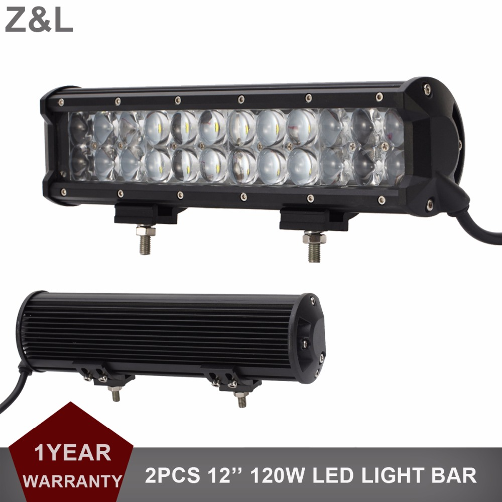 2PCS 120W Offroad LED Light Bar 12