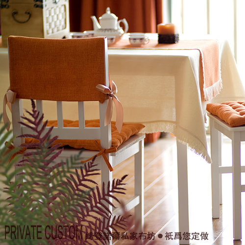 Fashion dining table cloth chair pad back bundle chair cover linen fabric modern brief sets yellow 14 customize