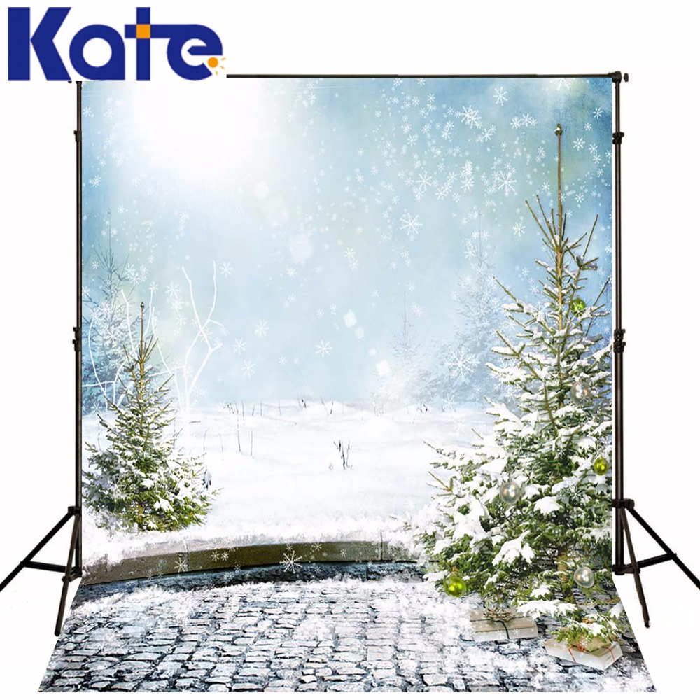 KATE 10x10FT Christmas Backdrops Snow White Photos Scenic Photo Backdrops Wedding Backdrops Fairy Tale Forests Background white horse with snow falling pure wedding photos 10 6 5ft digital printed background for photo studio backdrops customize