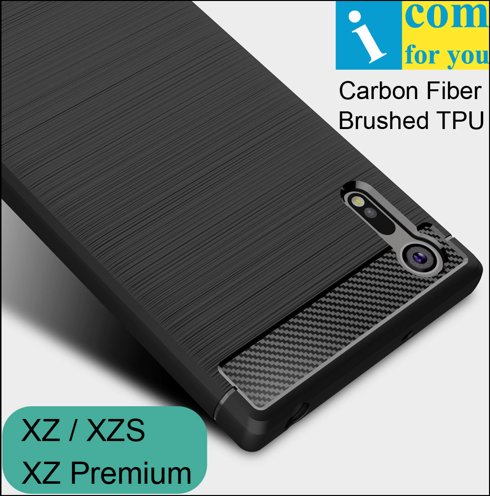 Carbon Fiber Cover Case For Sony Xperia XZ Premium XZS anti hit Shock proof Matte Frosted Brushed TPU Silicone Protector
