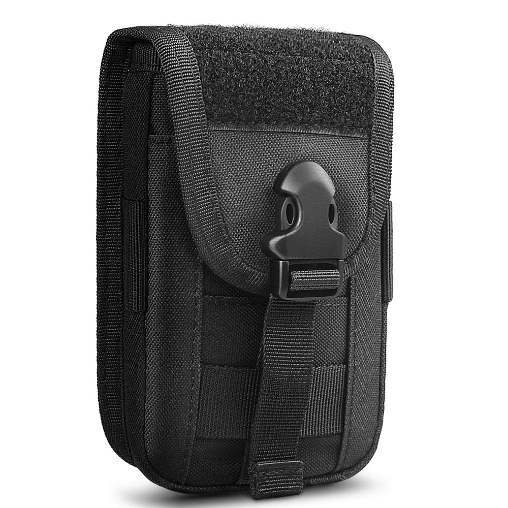 Tactical Phone Holster Pouch Molle Smartphone Bag Vest Card Carrier Waist Bag Utility Gadget Gear Tool Organizer Pocket image