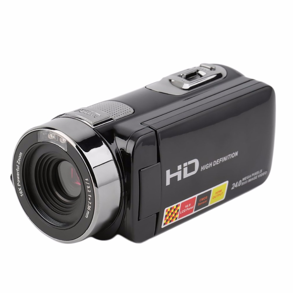 Portable Camera with 3 inches LCD Screen FHD 1080P 16X Zoom 24MP Digital Video Camera Consumer Camcorder DV Support 32G TF Card
