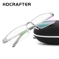 HYCRAFTER Eyeglasses Frame Men Women Computer Optical Eye Glasses Transparent Clear Lens Aluminum Magnesium Alloy