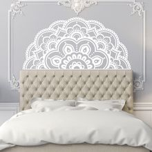 Half Mandala Vinyl Wall Sticker Bohemian Style Mural Home Bedroom Decor Removable Flower Design AY1434