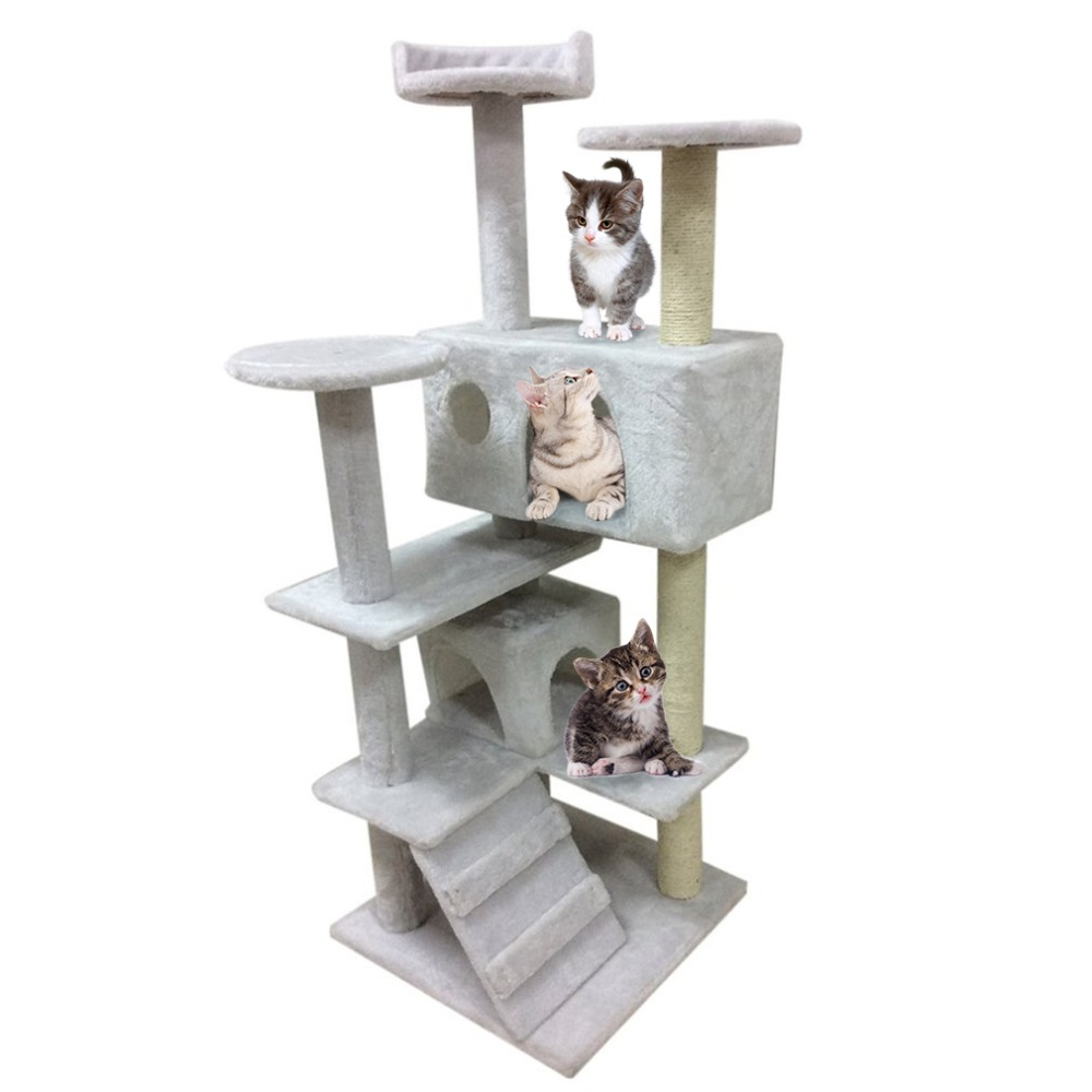 High Stability Cat's Tree Tower Condo Scratcher Home Furniture Pets House Hammock Furniture Pets House Hammock  Cat's Tree Towe
