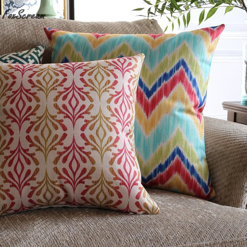 scandinavian style decorative throw pillows colorful geometric cushions home decor american modern pattern decorative pillow - Home Decor Cushions